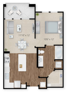 Oasis apartment floor plan